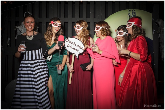 photocall de boda halloween
