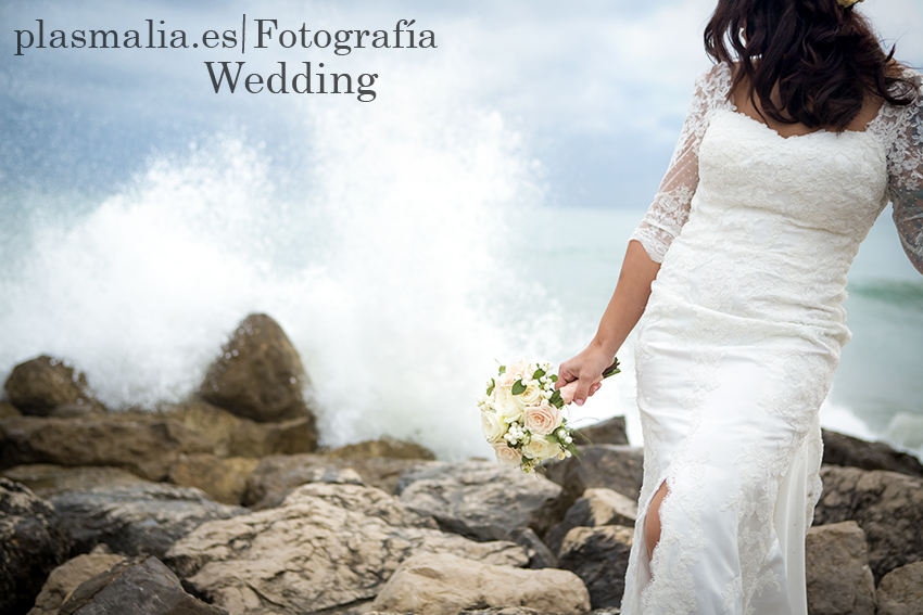 foto de novia con olas